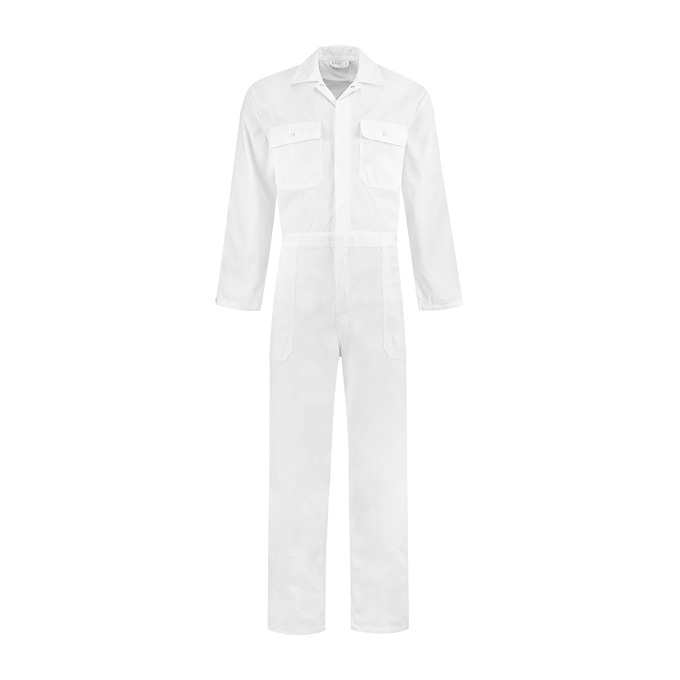 Witte overall polyester/katoen wit